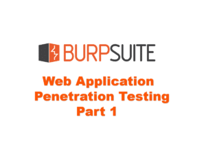 Web application Penetration Testing